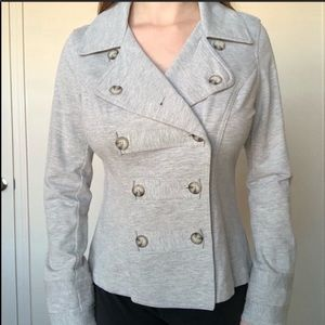 CAbi Gray Military Style Jacket Size Medium